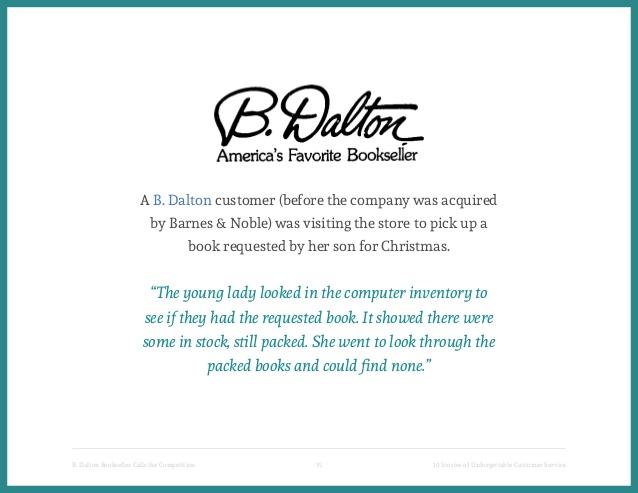 B. Dalton Customer Service-4